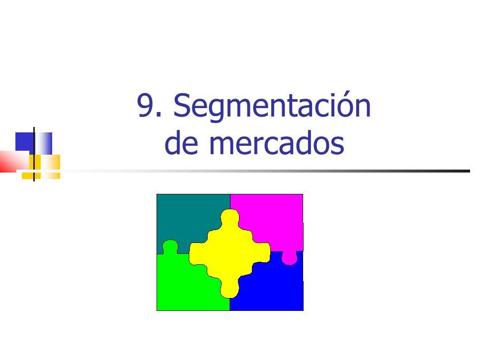 9. Segmentación de mercados