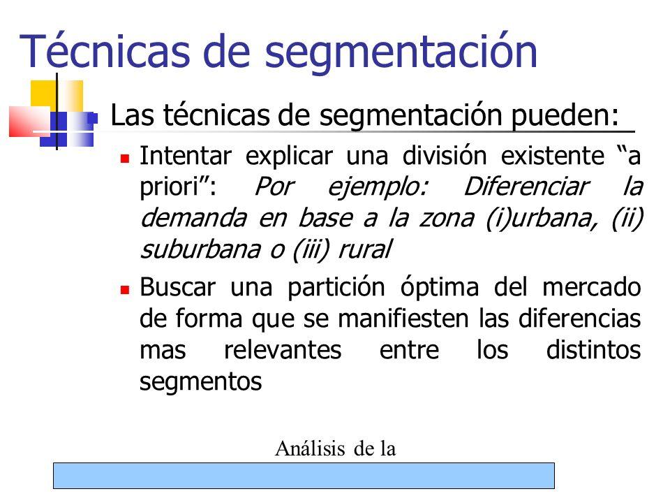 Técnicas de segmentación