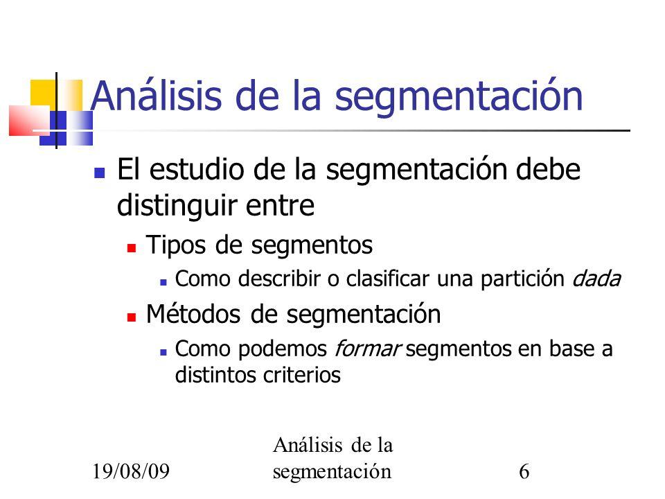 Análisis de la segmentación