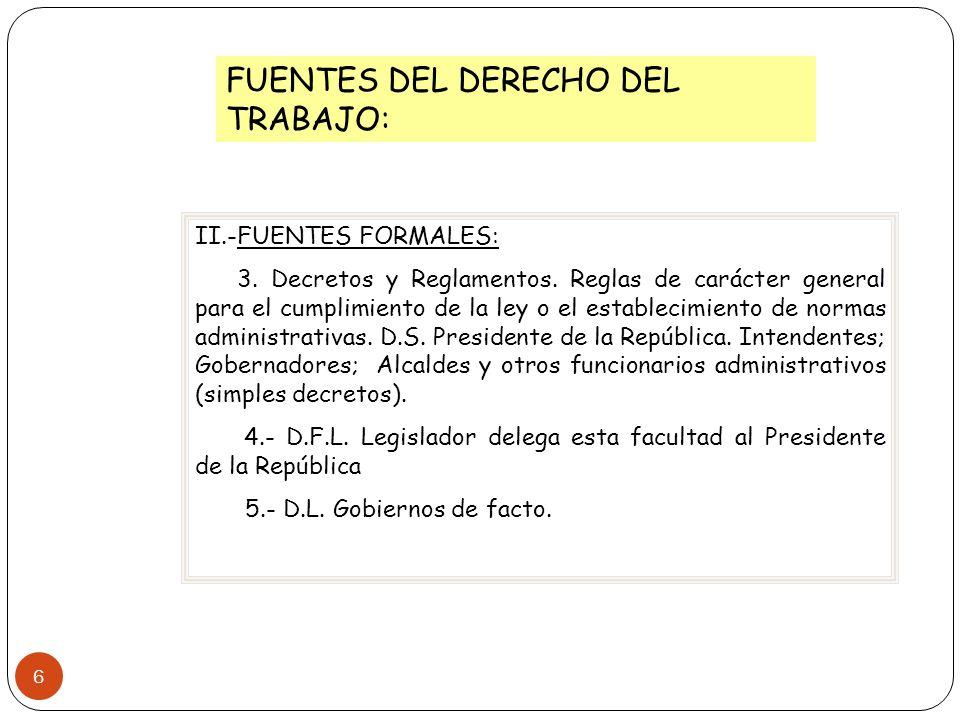FUENTES DEL DERECHO DEL TRABAJO: