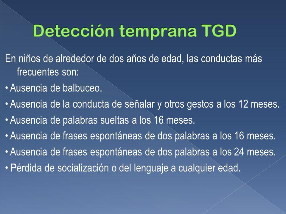 Detección temprana TGD