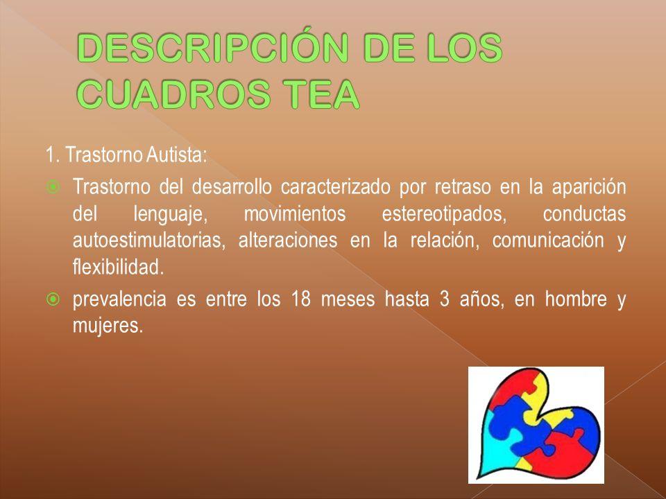 DESCRIPCIÓN DE LOS CUADROS TEA