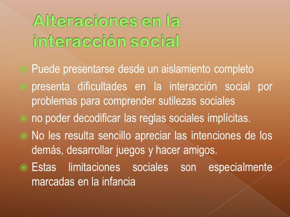 Alteraciones en la interacción social