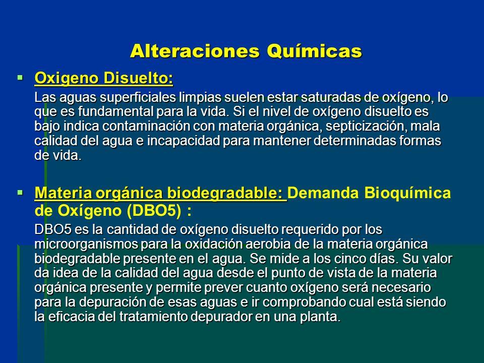 Alteraciones Químicas