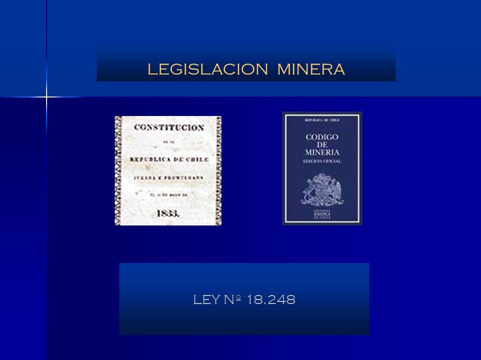 LEGISLACION MINERA LEY Nº 18.248