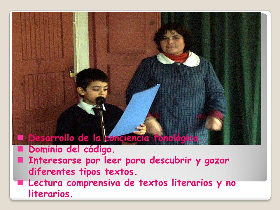 Desarrollo de la conciencia fonológica.