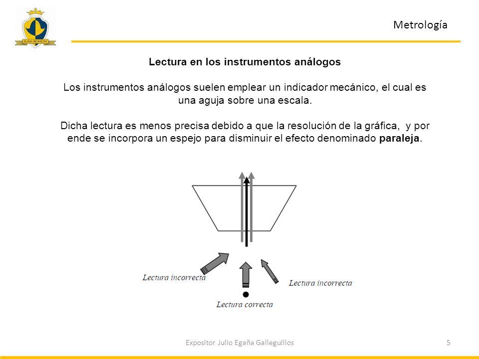 Lectura en los instrumentos análogos