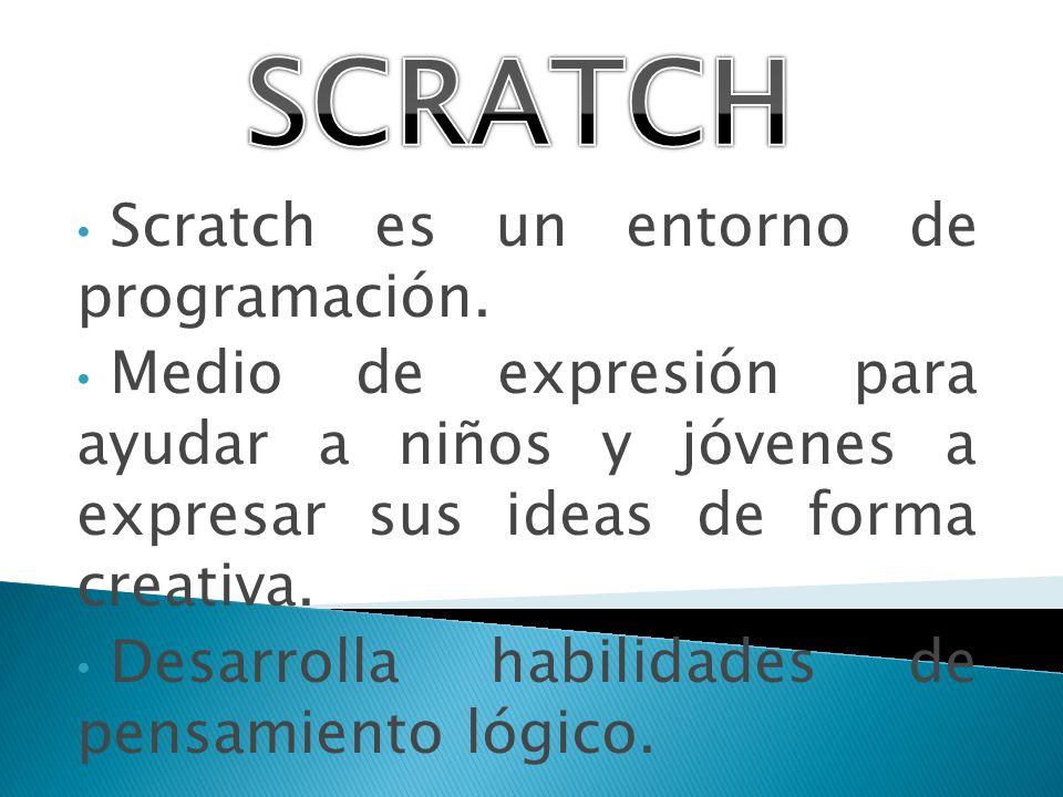 SCRATCH Scratch es un entorno de programación.