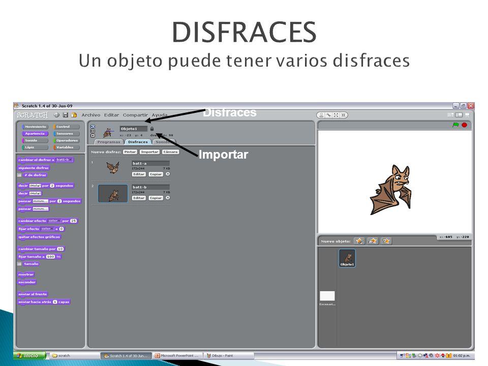 DISFRACES Un objeto puede tener varios disfraces