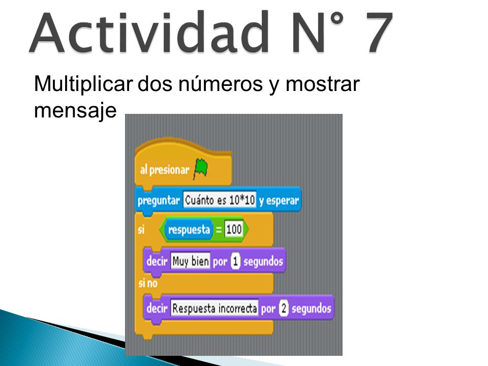 Actividad N° 7 Multiplicar dos números y mostrar mensaje