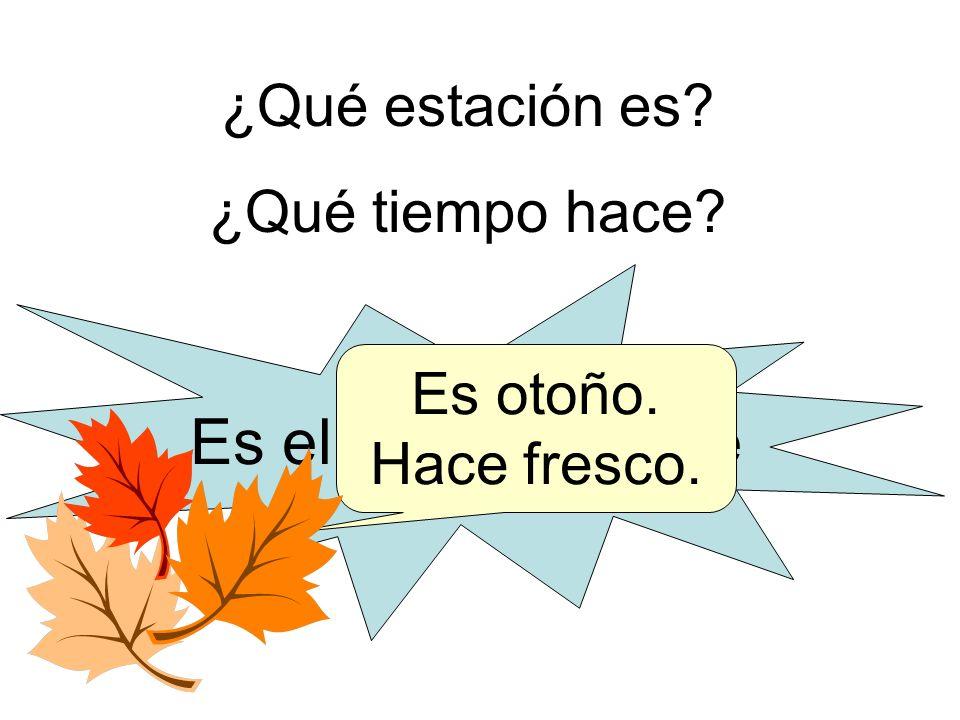 Es el 25 de octubre ¿Qué estación es ¿Qué tiempo hace Es otoño.