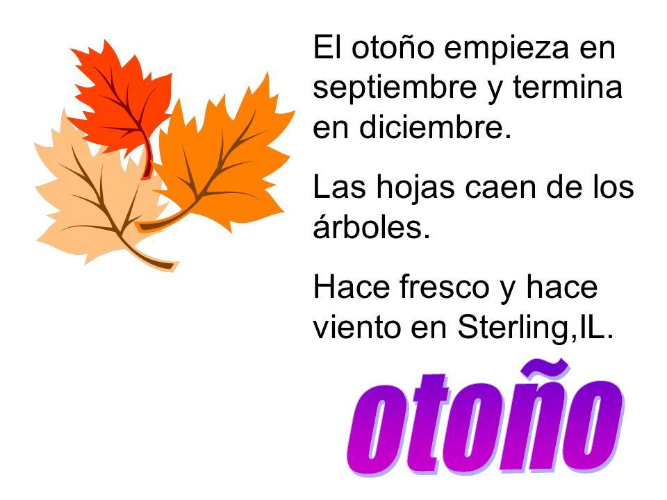 El otoño empieza en septiembre y termina en diciembre.