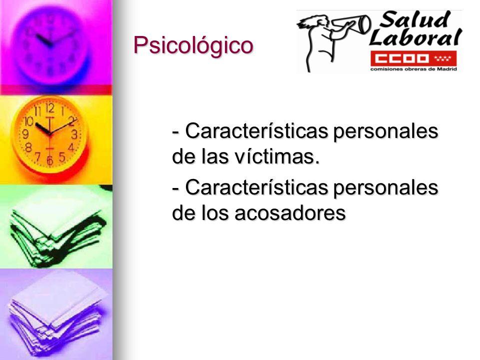Psicológico - Características personales de las víctimas.