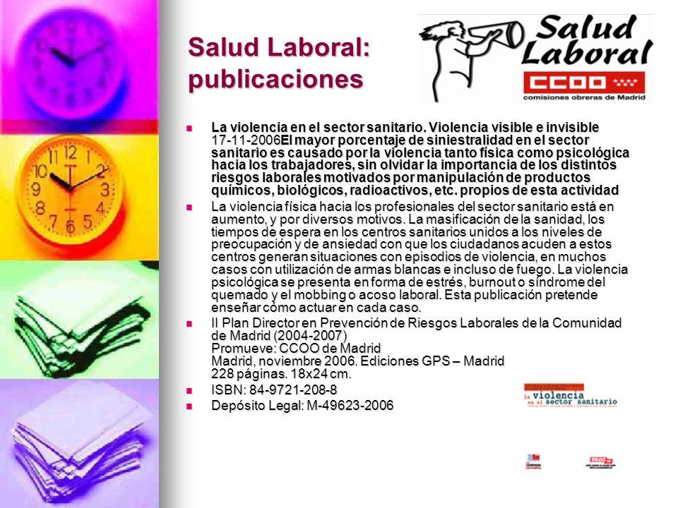 Salud Laboral: publicaciones