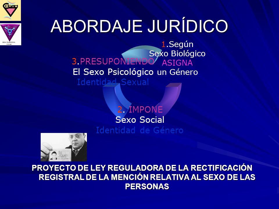 ABORDAJE JURÍDICO PROYECTO DE LEY REGULADORA DE LA RECTIFICACIÓN REGISTRAL DE LA MENCIÓN RELATIVA AL SEXO DE LAS PERSONAS.