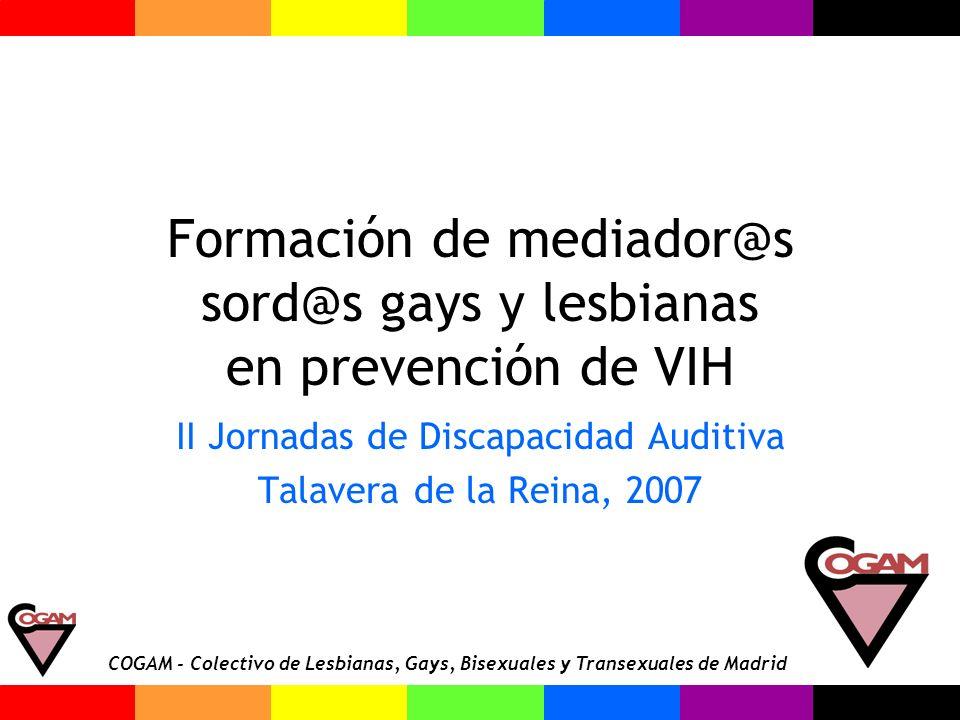 Formación de mediador@s sord@s gays y lesbianas en prevención de VIH
