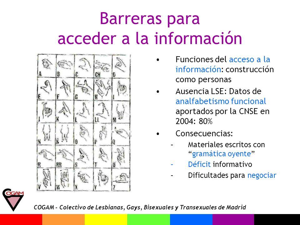 Barreras para acceder a la información