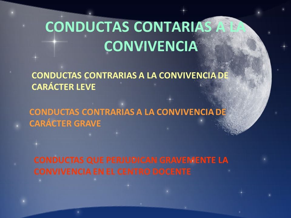 CONDUCTAS CONTARIAS A LA CONVIVENCIA