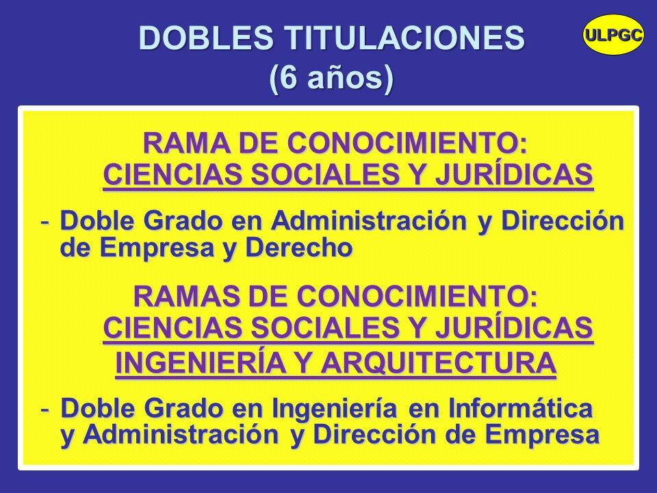 DOBLES TITULACIONES (6 años)