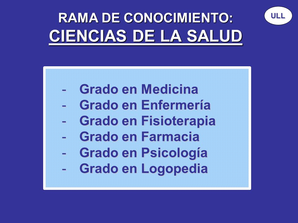 RAMA DE CONOCIMIENTO: CIENCIAS DE LA SALUD