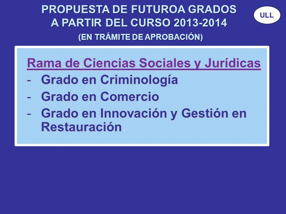 Rama de Ciencias Sociales y Jurídicas Grado en Criminología