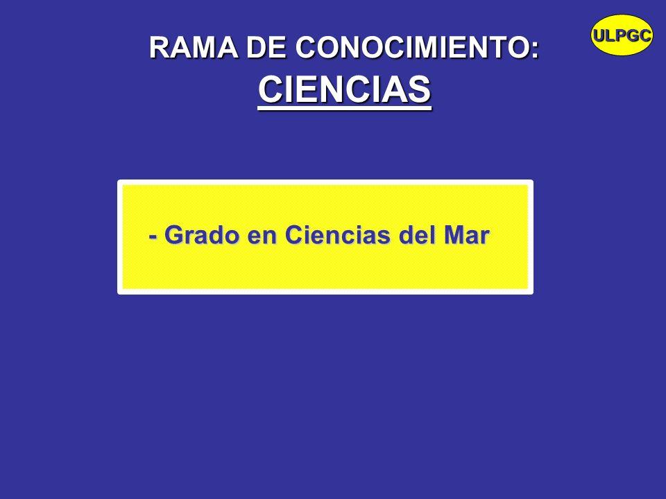 RAMA DE CONOCIMIENTO: CIENCIAS