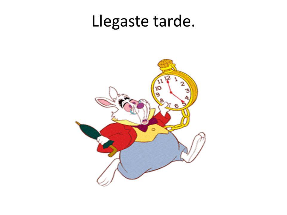Llegaste tarde.