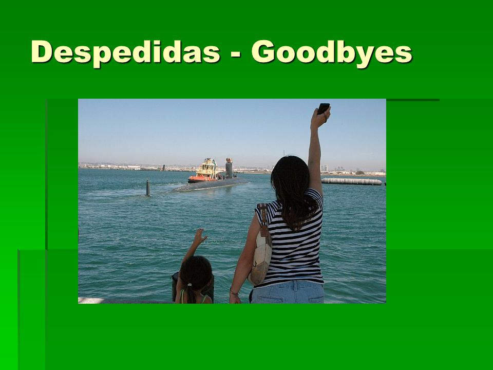 Despedidas - Goodbyes