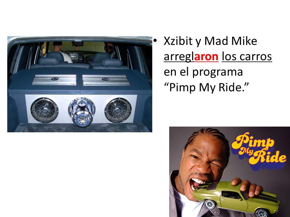 Xzibit y Mad Mike arreglaron los carros en el programa Pimp My Ride.