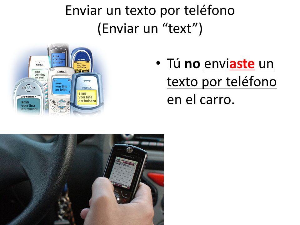 Enviar un texto por teléfono (Enviar un text )