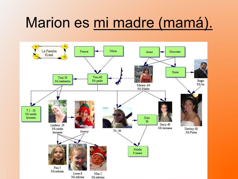 Marion es mi madre (mamá).