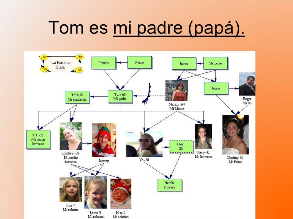 Tom es mi padre (papá).
