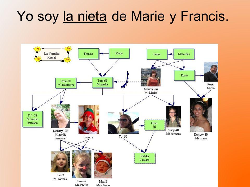 Yo soy la nieta de Marie y Francis.