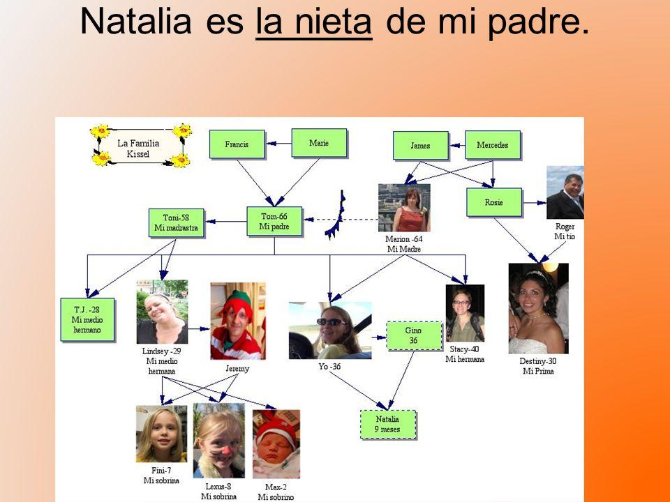 Natalia es la nieta de mi padre.