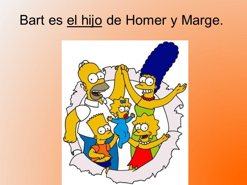 Bart es el hijo de Homer y Marge.