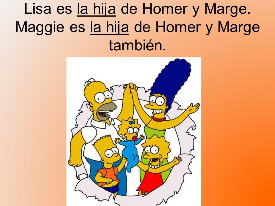 Lisa es la hija de Homer y Marge