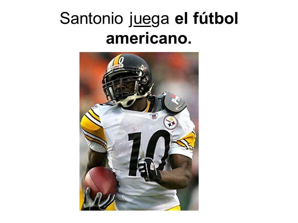 Santonio juega el fútbol americano.