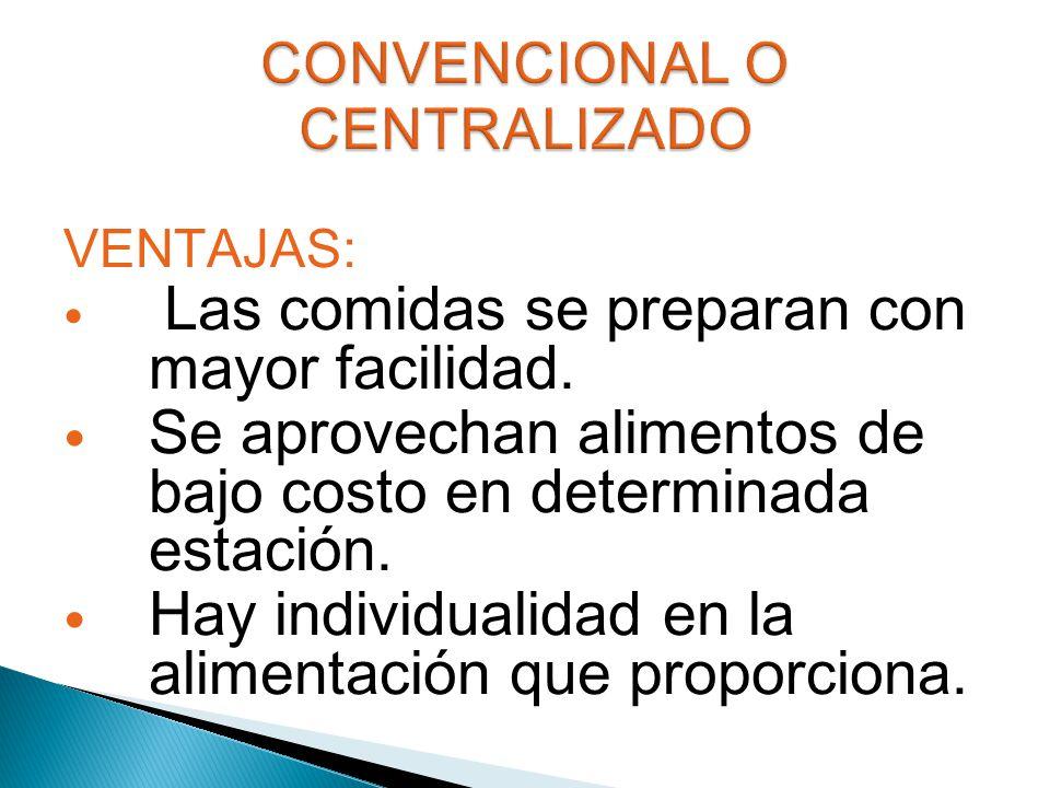 CONVENCIONAL O CENTRALIZADO