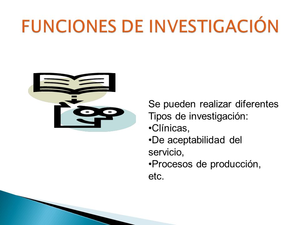 FUNCIONES DE INVESTIGACIÓN