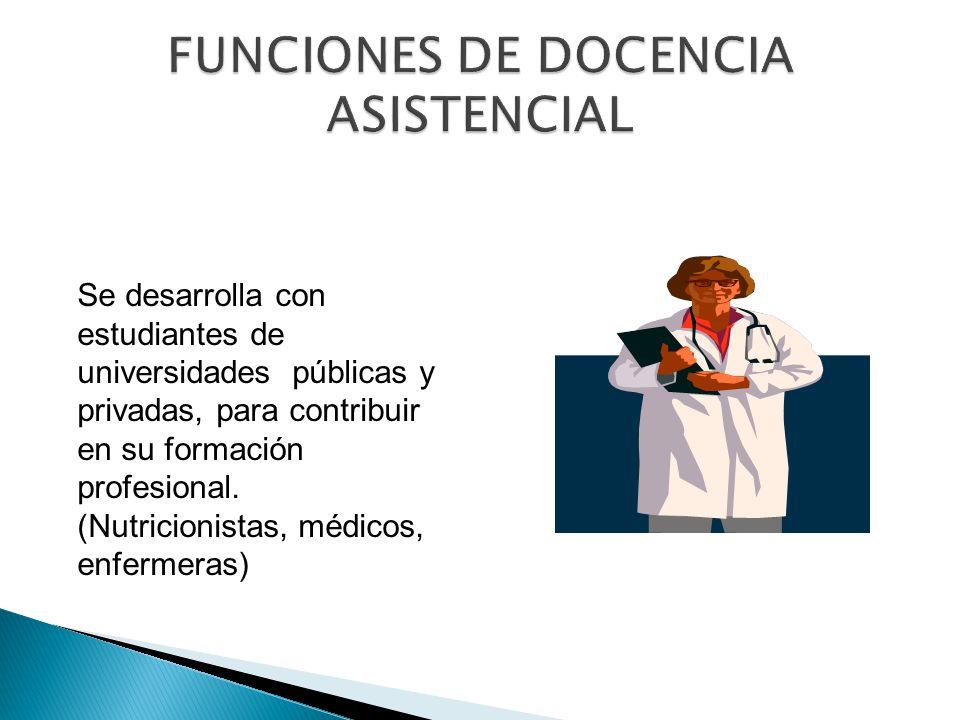 FUNCIONES DE DOCENCIA ASISTENCIAL