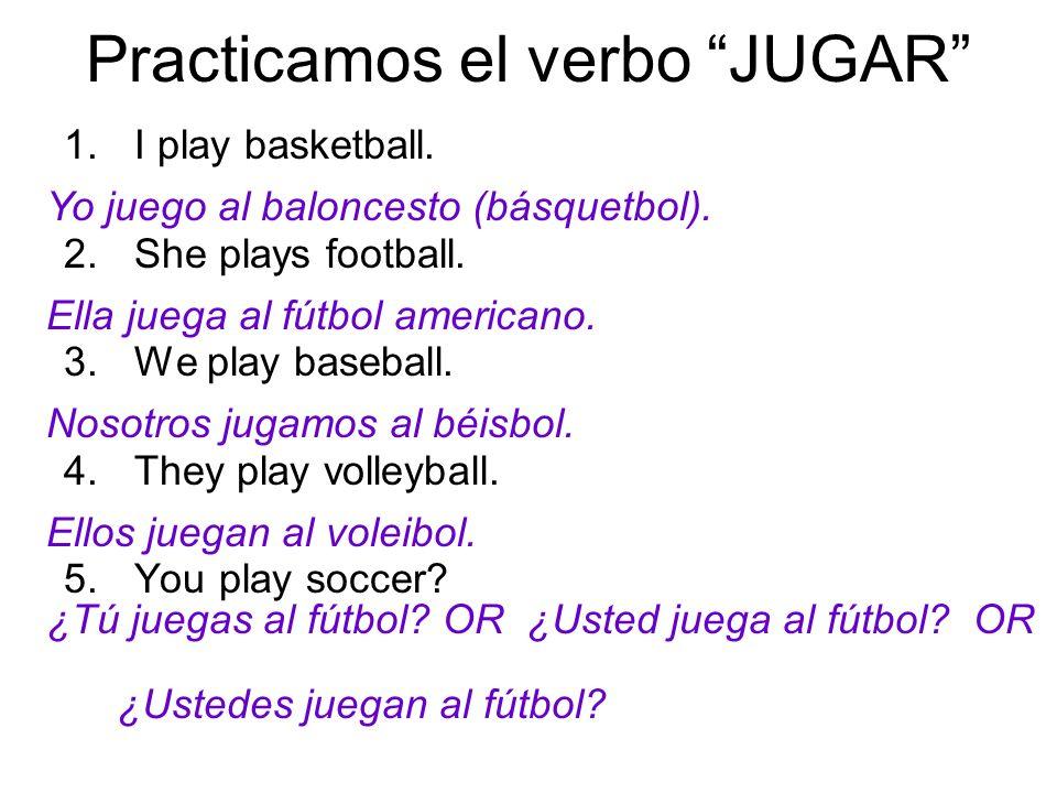 Practicamos el verbo JUGAR