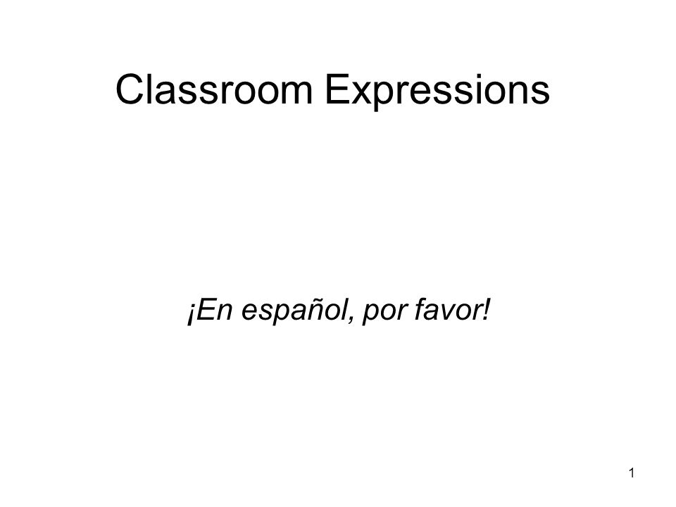 Classroom Expressions