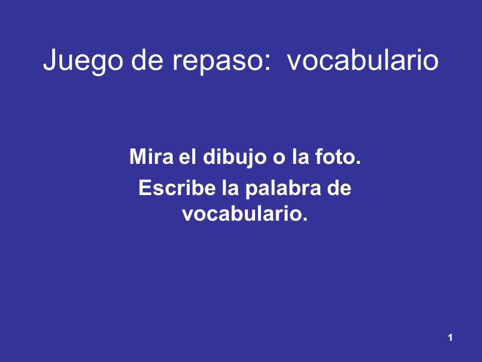 Juego de repaso: vocabulario