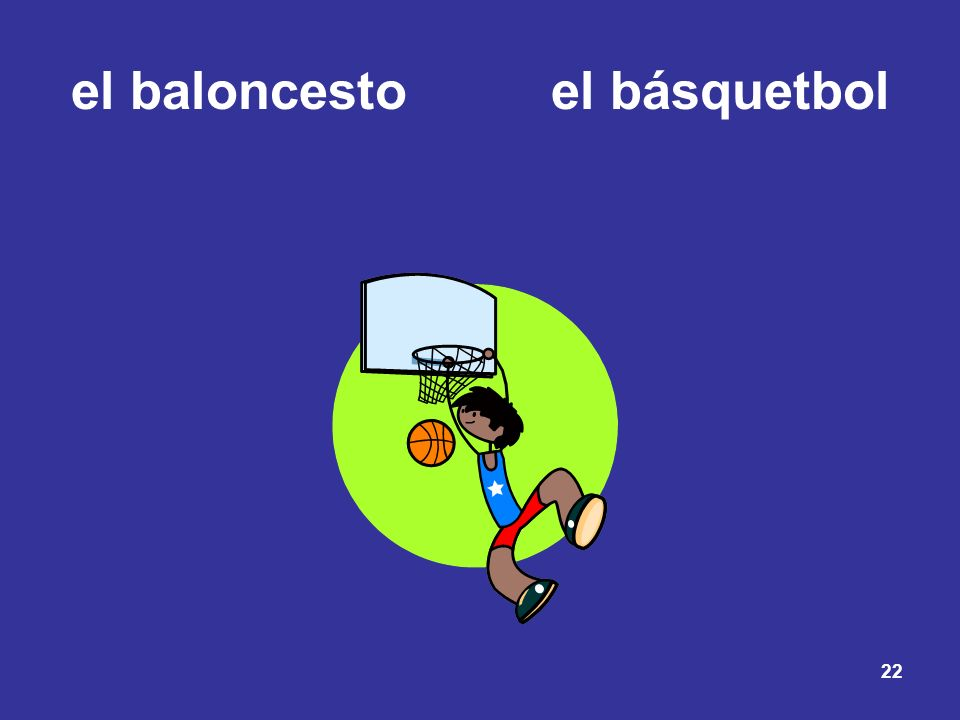 el baloncesto el básquetbol
