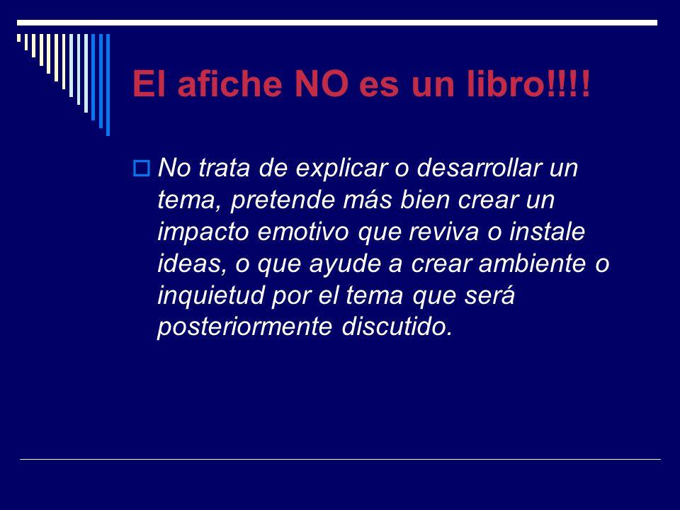 El afiche NO es un libro!!!!