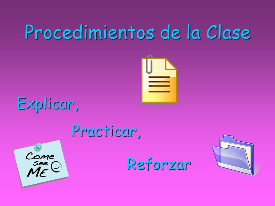 Procedimientos de la Clase
