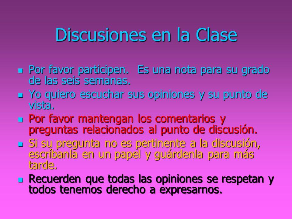 Discusiones en la Clase
