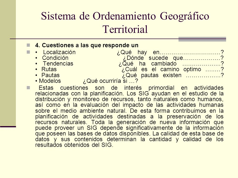 Sistema de Ordenamiento Geográfico Territorial