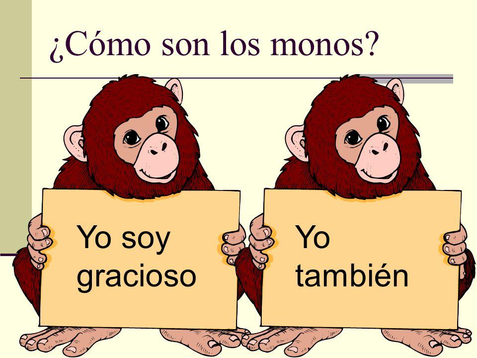 ¿Cómo son los monos Yo soy gracioso Yo también