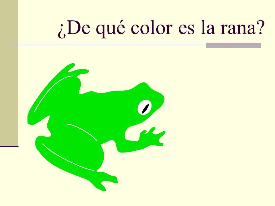 ¿De qué color es la rana